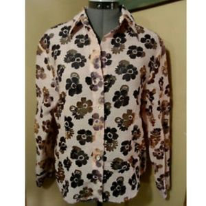 FRENCH DRESSING Button Shirt 10 Pink floral top